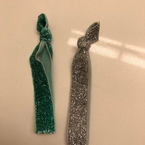 Glitter hair ties